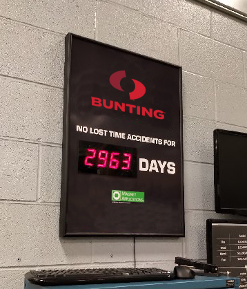 Bunting-DuBois Celebrates 8 Years Without a Lost Time Accident